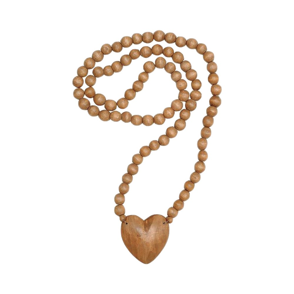 Hand Carved Wood Beads - 3R Studios, Natural