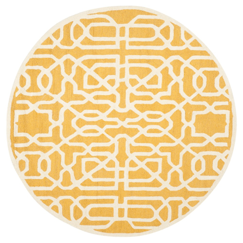 Safavieh Wooster Area Rug - Gold / Ivory ( 6' Round ), Gold/Ivory
