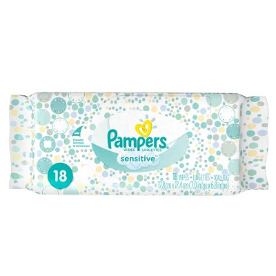 Pampers Travel Pack Sensitive Wipes - 18 ct