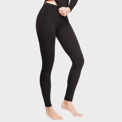 Warm Essentials by Cuddl Duds Women's Smooth Stretch Thermal Leggings - Black