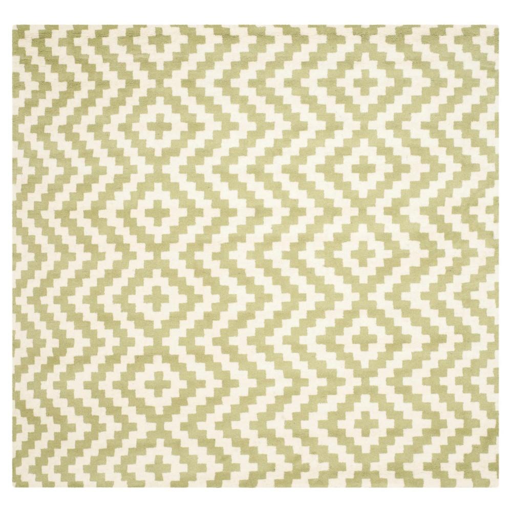 Safavieh Kennedy Area Rug - Ivory / Light Green ( 6' X 6' ), Ivory/Light Green