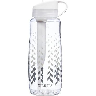 Brita Hard Sided 34 oz Water Bottle - Clear Chevron