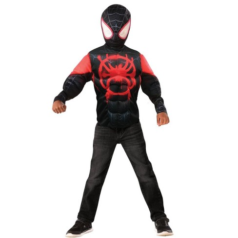 Imagine Miles Morales Muscle Chest Shirt Set � Kids Costume - image 1 of 1