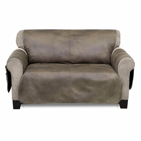 Astonishing Faux Leather Furniture Protector With Neverwet Loveseat Slipcover Fawn Serta Caraccident5 Cool Chair Designs And Ideas Caraccident5Info