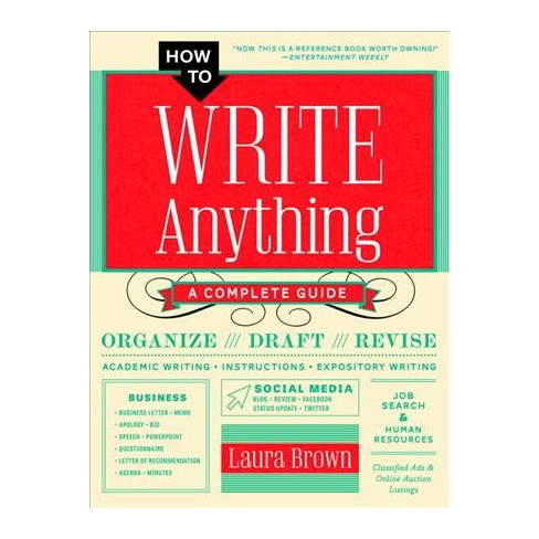 how to write anything online book