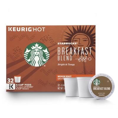 Starbucks Breakfast Blend Medium Roast Coffee - Keurig K-Cup Pods - 32ct