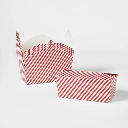 5ct Rectangle Red Stripe Takeout Gift Box - Wondershop™ - image 1 of 1
