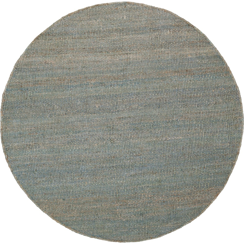 6' Solid Woven Round Area Rug Blue - Safavieh
