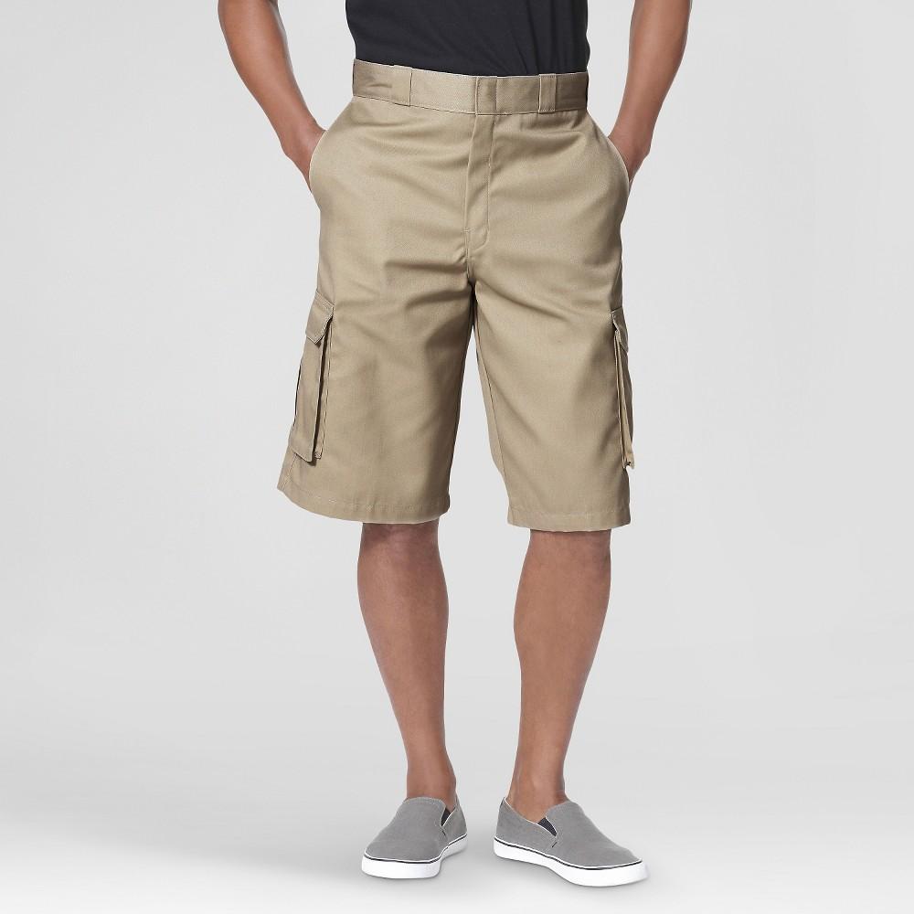 Dickies Men's Big & Tall Loose Fit Twill 13 Cargo Shorts- Desert Sand 50