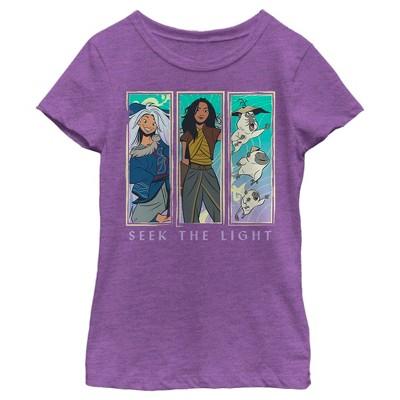 Girl's Raya and the Last Dragon Seek the Light T-Shirt