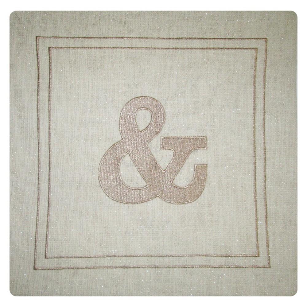 Monogram Throw Pillow Cover & - Threshold, Beige