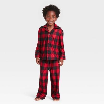 Toddler Holiday Buffalo Check Flannel Matching Family Pajama Set - Wondershop™ Red