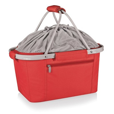 Picnic Time Metro Collapsible Basket - Red