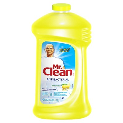 Mr. Clean Antibacterial Multi-Surface Cleaner Summer Citrus - 40 fl oz