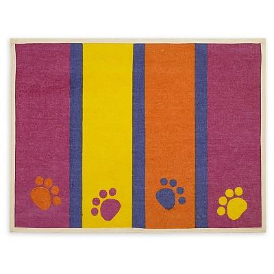 Buddy's Line Paws & Stripes Fashion Forward Cotton Mat (13 X25.5 )
