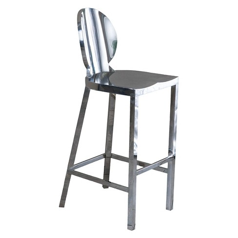 Paris 29 Barstool Stainless Steel Silver Christopher Knight Home