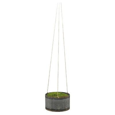 Drummond Hanging Planter Small Medium Silver - Foreside Home & Garden