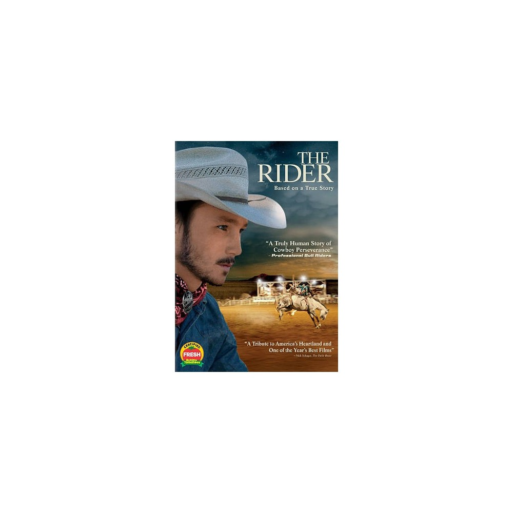 Rider (Dvd), Movies A young Native American rodeo cowboy (Brady Jandreau) faces an identity crisis after suffering a near-fatal head injury and being told that he can never ride again. When he takes on the grueling job of training a wild horse he finds it exhilarating, but also a sad reminder that the direction of his life is forever altered. Directed by Chloé Zhao.