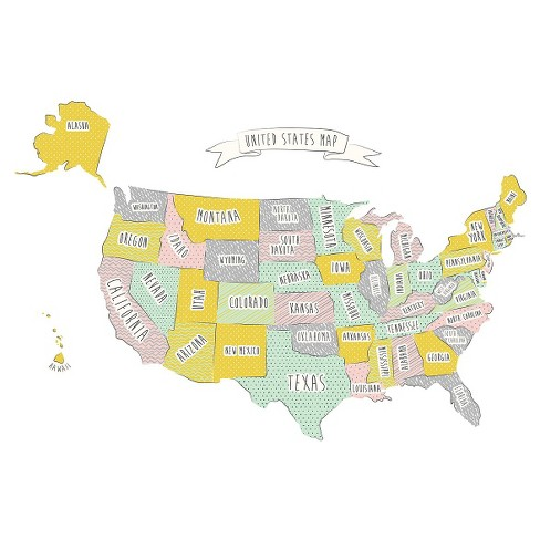 Usa Map Wall Decal Target