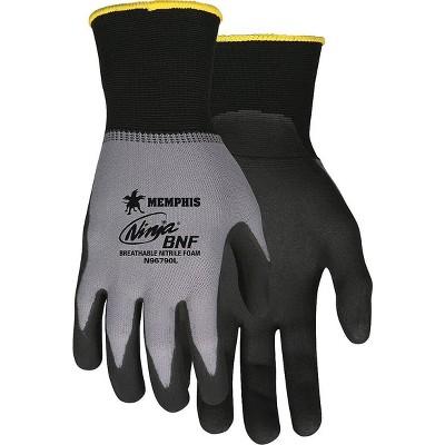 MCR Safety Breathable Nitrile Foam Gloves, BK/GY, Extra-Large N96790XL