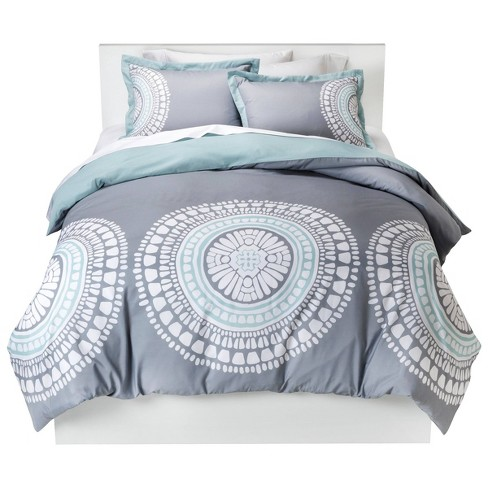 Gray Medallion Duvet Cover Set (King) - Room Essentials™ - image 1 of 4