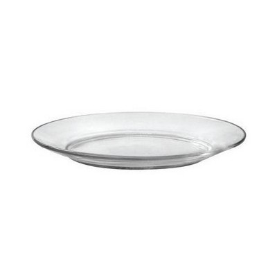 Duralex Lys 6 Piece 7.5 In Round Clear Tempered Glass Dessert Plate Set for Formal or Casual Dining (2 Pack)