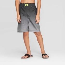 Boys' Gradient Dot Print Swim Trunks - Cat & Jack™ Gray