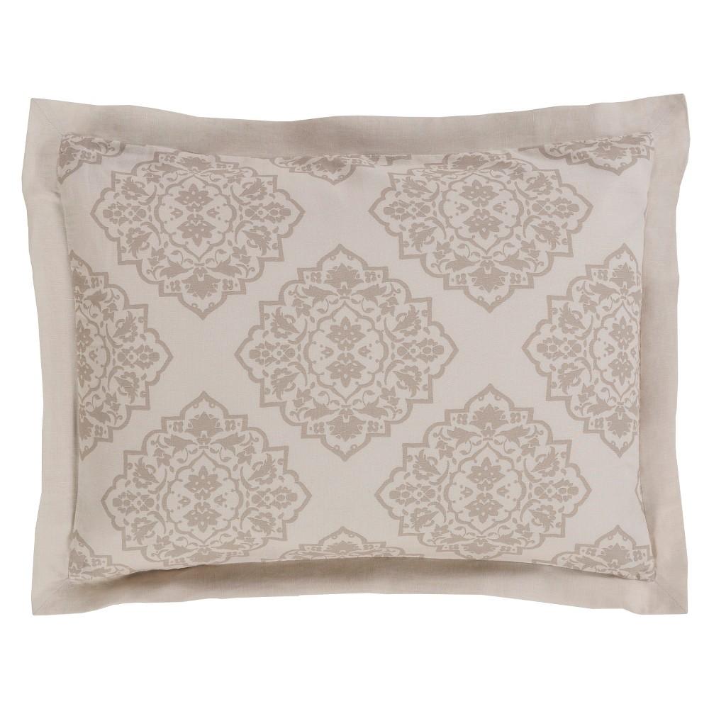 Aldan Luxury Bedding Sham (King) Natural - Surya, Beige