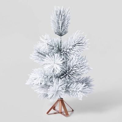 1.5ft Unlit Flocked Decorative Christmas Tree - Wondershop™
