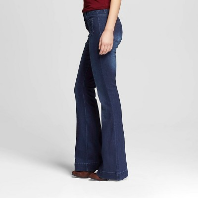 Womenu0027s High Rise Flare Jeans Dark Wash-Dollhouse (Juniorsu0027) : Target