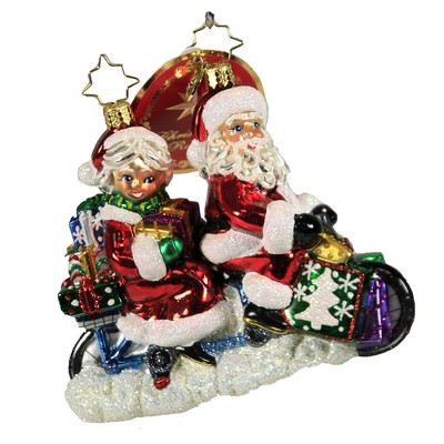 """Christopher Radko 4.5"""" A Bicycle Built For Two Ornament Claus Mrs Ride Bike  -  Tree Ornaments"""