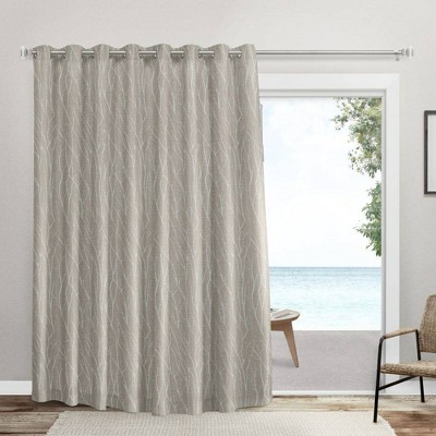Forest Hill Patio Room Darkening Blackout Grommet Top Patio Curtain Panels Off White - Exclusive Home