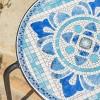 Skye Ceramic Tile Side Table - Blue/White - Christopher Knight Home - image 3 of 4