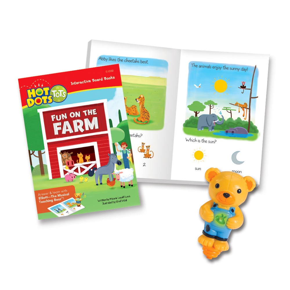 Educational Insights Hot Dots Tots Animals Interactive Board Book Set with Elliott Pen
