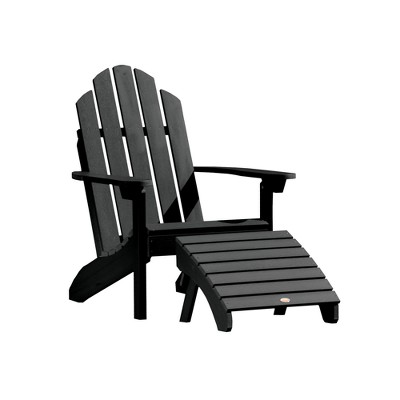 Classic Westport Adirondack Chair With Folding Adirondack Ottoman   Highwood