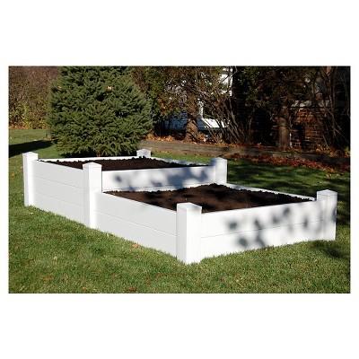 4' x8' Split Level Rectangular Planter Bed - Dura-Trel