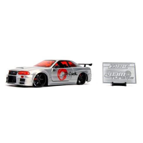 Jada Toys 20th Anniversary 2002 Nissan Skyline GT-R Die-Cast Vehicle 1:24 Scale - Brushed Metal - image 1 of 4