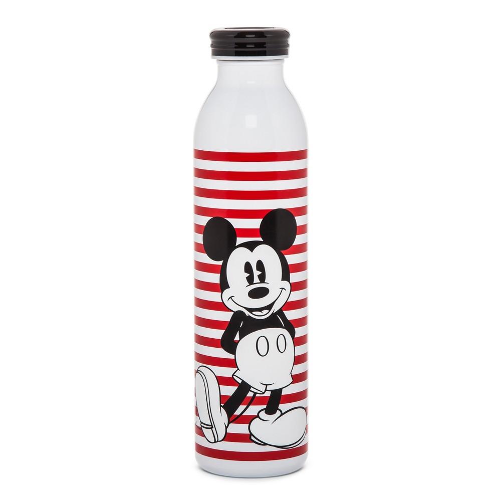 Disney Mickey Mouse & Friends Retro Mickey Water Bottle 20oz - Red Stripe