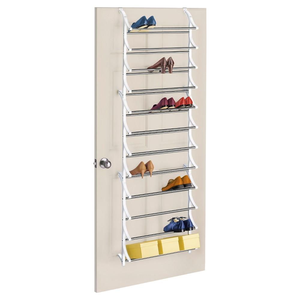 Image of Lynk 36 Pair Over Door Shoe Rack - White