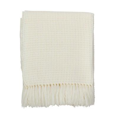 Light Off-White Throw Blankets50 X60 -Saro Lifestyle