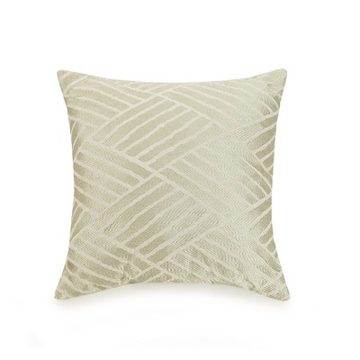 Ayesha Curry 18 X18  Embroidered Geo Throw Pillow Ivory
