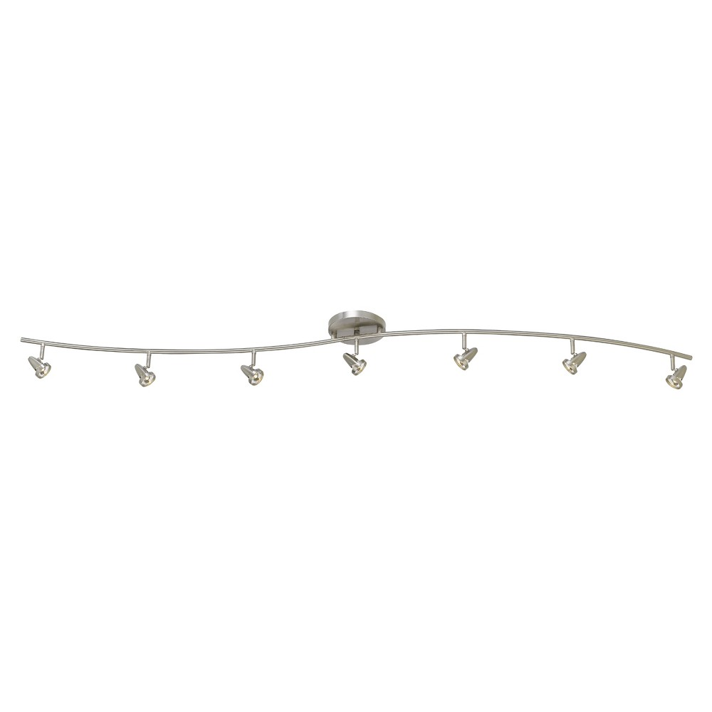 Integrated Led Serpentine Rail Fixture Comes with A Pair Of Extension poles Steel (Silver) 23.5x12.75 Ceiling lights - Cal Lighting