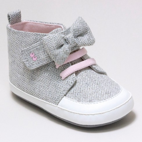 Baby Girls  Surprize by Stride Rite® Sara High Top Sneaker Soft Sole Shoes  - Grey f235749f4