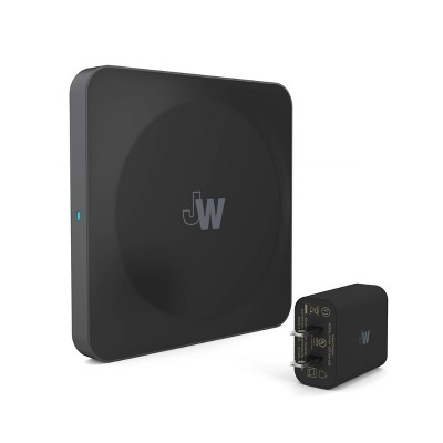 Just Wireless 5W 2-Pack Qi Wireless Charging Pad with Wall Adapter Included - Black