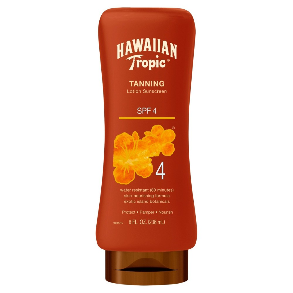 Image of Hawaiian Tropic Dark Tanning Lotion Sunscreen - SPF 4 - 8oz