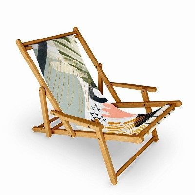 Marta Barragan Camarasa Abstract Autumn Season Sling Chair - Deny Designs