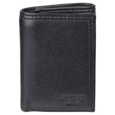 DENIZEN® from Levi's® Men's RFID Trifold with Zipper Pocket Wallet - Black