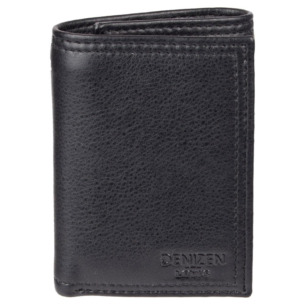 Denizen from Levi's Men's Trifold With Interior Zipper Rfid Wallet - Black