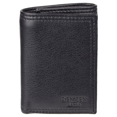 DENIZEN® from Levi's® Men's RFID Trifold with Zipper Pocket Wallet - Black - image 1 of 4