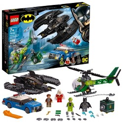 LEGO DC Comics Super Heroes Batman Batwing and The Riddler Heist 76120 Toy Plane Building Set 489pc